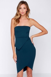 LULUS Exclusive Twice the Fun Strapless Navy Blue Dress at Lulus.com!