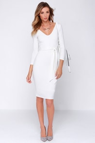 LULUS Exclusive Cocktails and Dreams Ivory Midi Dress at Lulus.com!