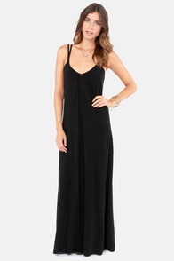 RVCA Bolan Washed Black Maxi Dress at Lulus.com!