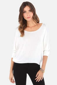 Unfinished Business Ivory Top at Lulus.com!