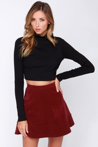 LULUS Exclusive The Real Zeal Black Long Sleeve Crop Top at Lulus.com!