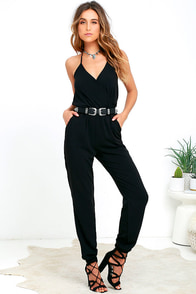 Learning to Fly Black Jumpsuit at Lulus.com!