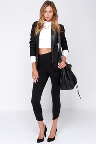 Fit to Kill Cropped Black Leggings at Lulus.com!