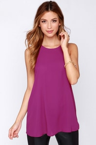 At First Crush Magenta Top at Lulus.com!