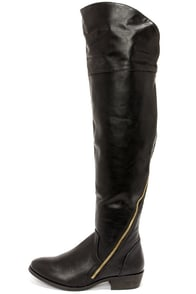 Report Signature Gwyn Black Over the Knee Boots at Lulus.com!