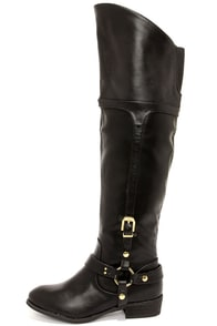 Report Signature Geena Black Over the Knee Boots at Lulus.com!