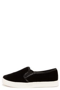 Report Areva Black Velvet Slip-On Sneakers at Lulus.com!