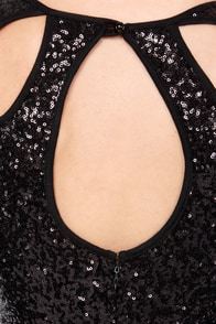TFNC Abby Black Sequin Bodycon Dress at Lulus.com!