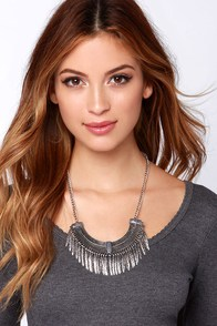 If You're a Bird Silver Statement Necklace at Lulus.com!