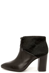 Seychelles Nonchalant Black Leather Pony Hair Booties at Lulus.com!