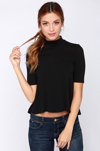 Dress to Express Black Top at Lulus.com!