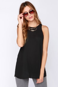 At First Crush Black Top at Lulus.com!