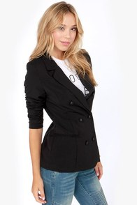 Blaze a Trail Black Blazer at Lulus.com!