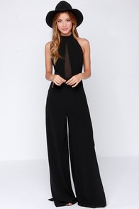 Moment of Bliss Black Jumpsuit at Lulus.com!