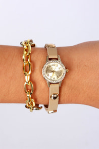 Had an Ice Time Beige Wraparound Watch at Lulus.com!