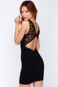 LULUS Exclusive Bring the Heat Black Lace Bodycon Dress at Lulus.com!