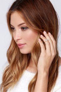 Pearl Glam Gold Pearl Knuckle Ring at Lulus.com!