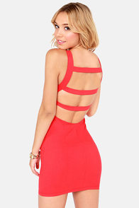 Oh My Posh Backless Red Dress at Lulus.com!