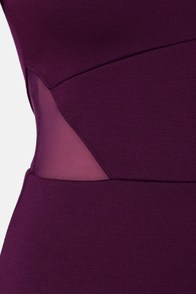 Jack by BB Dakota Thora Cutout Purple Dress at Lulus.com!