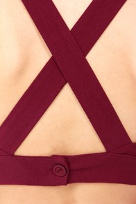 Go the X-tra Mile Wine Red Crop Top at Lulus.com!