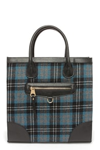 Highlands Black and Blue Plaid Tote at Lulus.com!