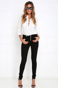 Flying Monkey Bold Looks High Waisted Black Skinny Jeans at Lulus.com!