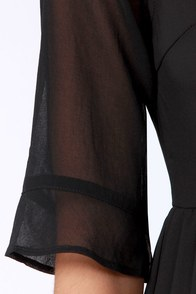 Why So Sheer-ious? Cutout Black Dress at Lulus.com!
