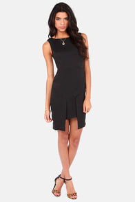 Out Fold Black Dress at Lulus.com!