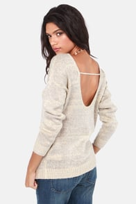 Lavand To the Glitter End Silver and Cream Sparkle Sweater at Lulus.com!