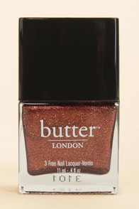 Butter London Brown Sugar Copper Glitter Nail Lacquer at Lulus.com!