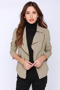 BB Dakota Dante Taupe Jacket at Lulus.com!
