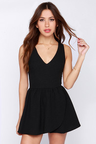 Start It Up Black Romper at Lulus.com!