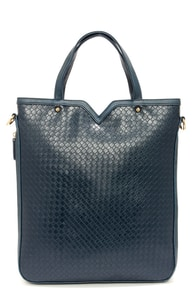 Don't Braid Away Navy Blue Tote at Lulus.com!