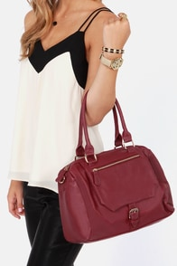 A Show of Hands Burgundy Handbag at Lulus.com!