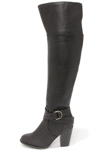 Bootsy Columns Black Over the Knee Boots