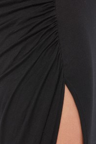 Ruche to Conclusions Black Maxi Skirt at Lulus.com!