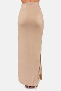 Ruche to Conclusions Beige Maxi Skirt at Lulus.com!