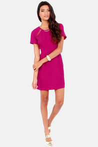 Collective Concepts Here and There Magenta Dress at Lulus.com!