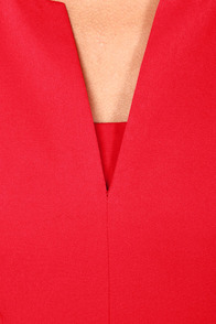 Perfectly Notch-chalant Red Dress at Lulus.com!