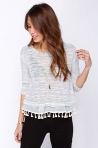 Misty Mountains Ivory Sweater Top at Lulus.com!