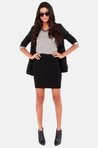 Unlimited Allure Black Pencil Skirt at Lulus.com!