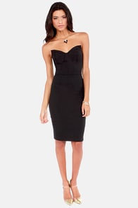 Riding on the Retro Strapless Black Dress at Lulus.com!