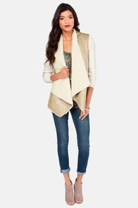 Knit for a Spell Cream and Beige Jacket at Lulus.com!