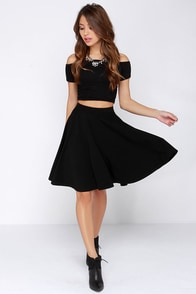 Noir Sighted Black Midi Skirt at Lulus.com!