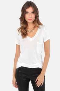 Tonight, V Are Young White Tee at Lulus.com!
