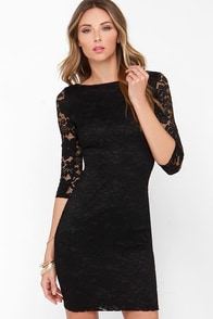 LULUS Exclusive Royal Flush Black Dress at Lulus.com!