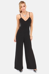 Runway Runaway Backless Black Jumpsuit at Lulus.com!