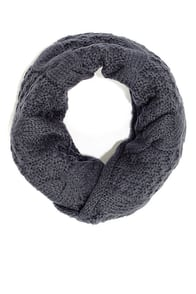 Call a Cable Grey Infinity Scarf at Lulus.com!