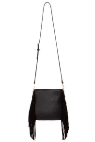 Uptown Rodeo Black Fringe Purse at Lulus.com!