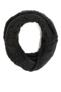 Call a Cable Black Infinity Scarf at Lulus.com!
